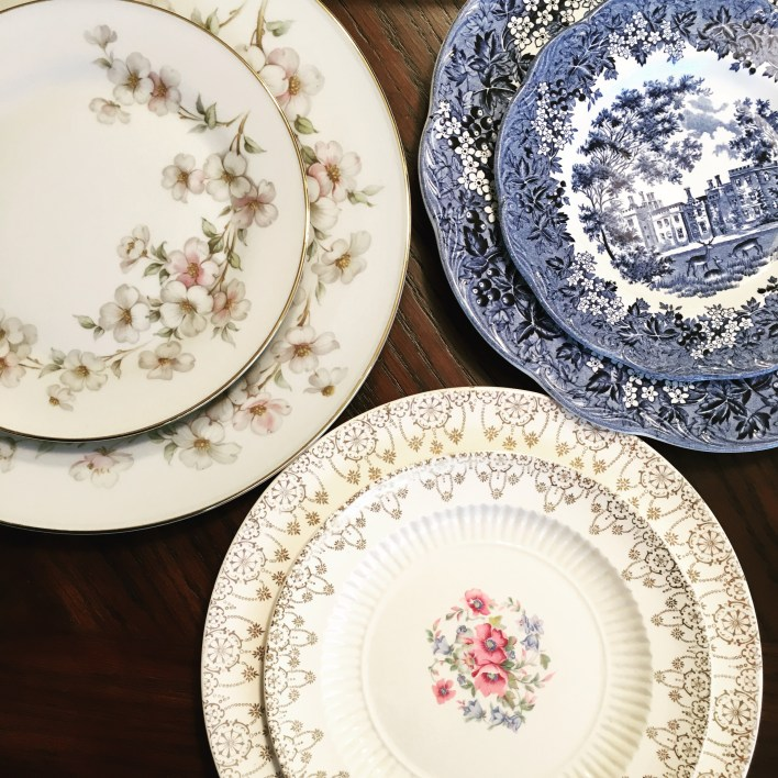 My eclectic mix of china plates