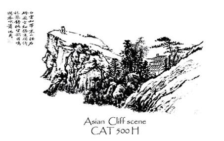 Asian Cliff Scene