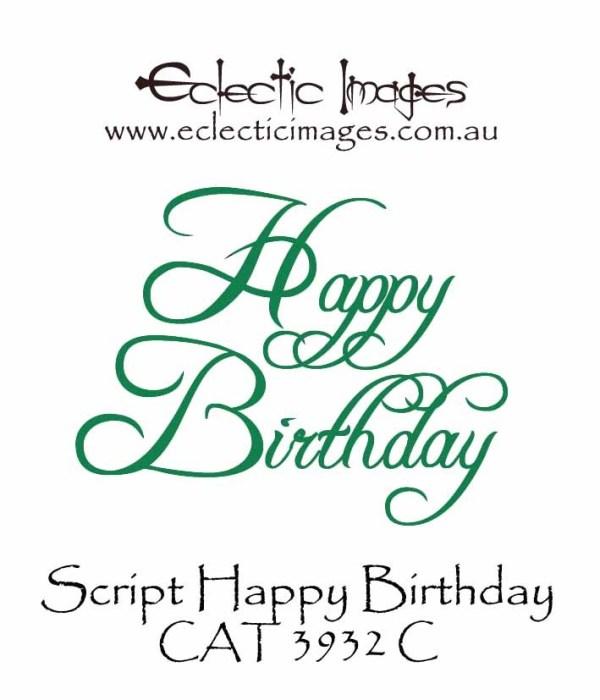 Happy Birthday Script