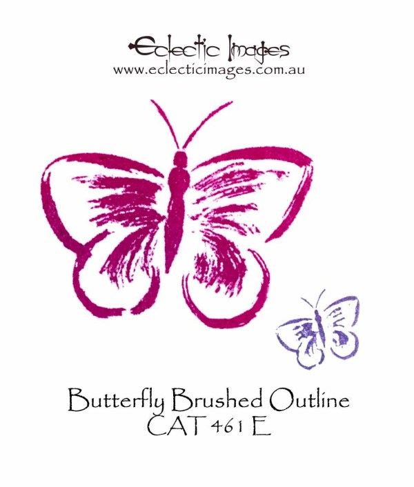 Butterfly Brushed Outline