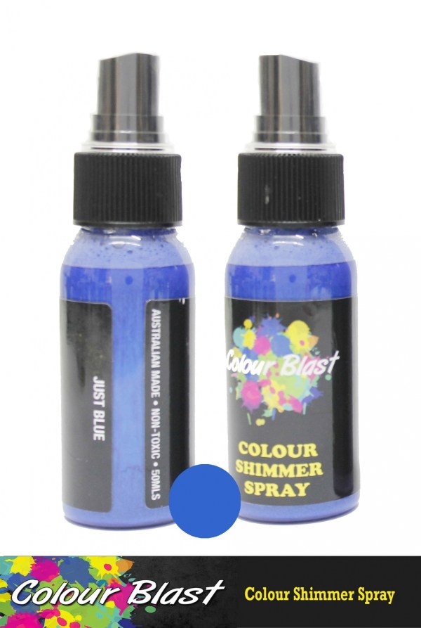 Colour Blast Shimmer Spray Juat Blue