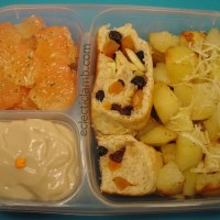 Potato and Fruit Breakfast Bento