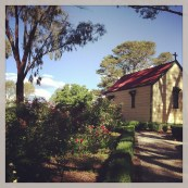 The Rose Garden & Historic Church at Orange Botanic Gardens - a personal favourite feature