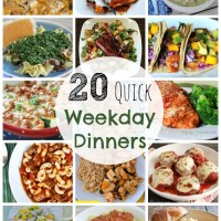 20 Quick Family Weekday Meals