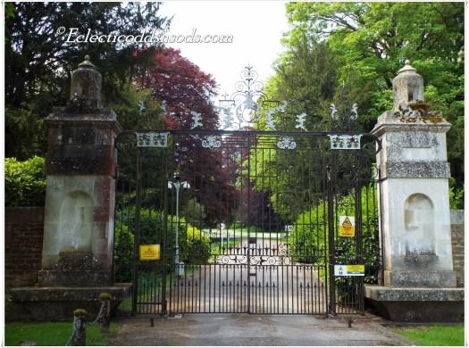 The iron gates we used to climb