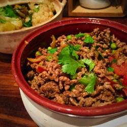 Kheema; ground beef with peas