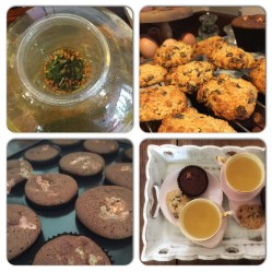 Honey & Raisin Chocolate Drops & Green Tea with Rice