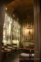 The small chapel Bath abbey Bath England