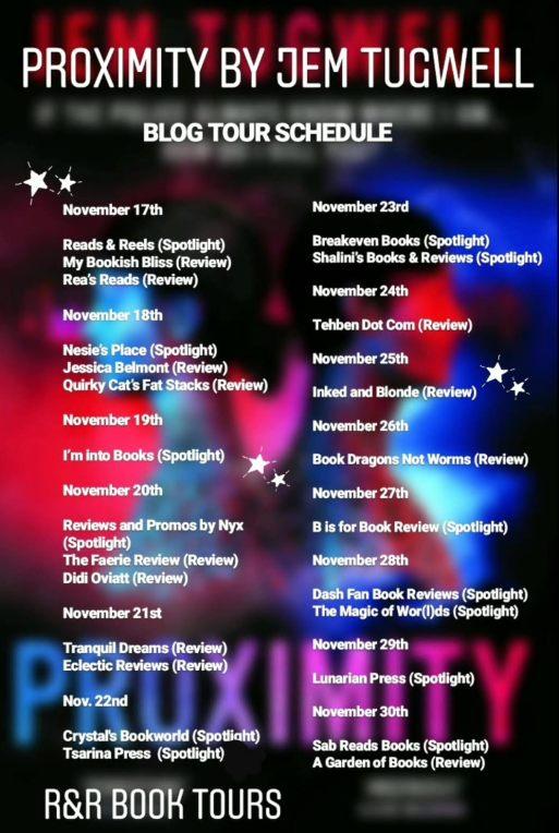 Proximity Tour Schedule