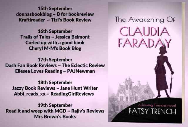 The Awakening Of Claudia Faraday Full Tour Banner