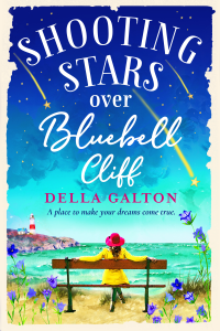 Shooting Stars Over Bluebell Cliff by Della Galton
