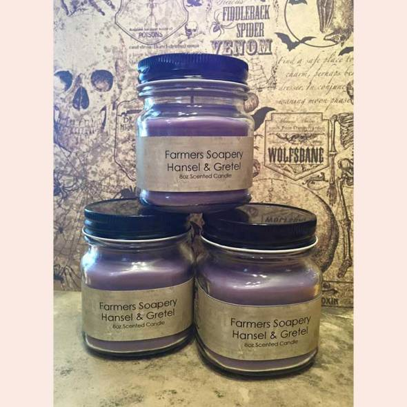 Scented candles with the Farmer's Soapery