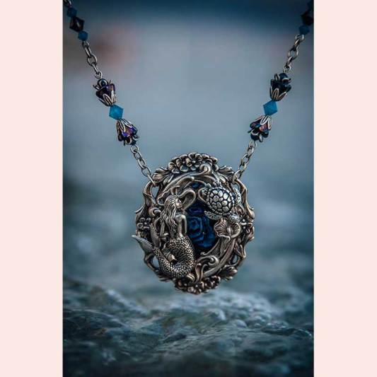 Silver mermaid pendant by Autumn Moon