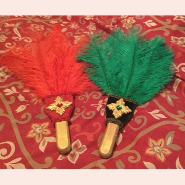 Feather Fans by Majestic Pearl Historical Attire