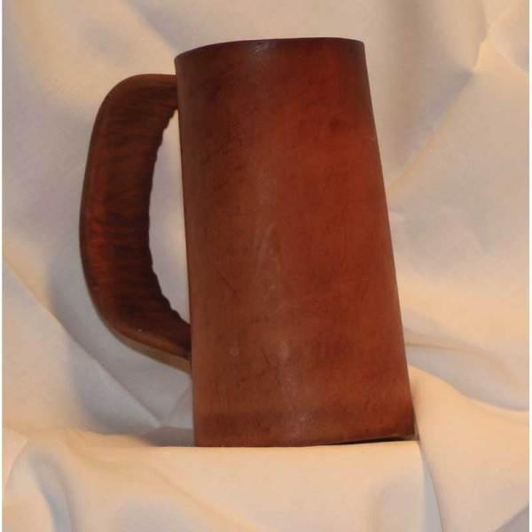 Plain Leather Flagon by D&U Leather Mugs