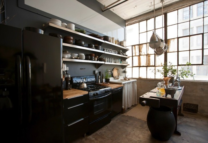 Eclectic Trends Loft Brooklyn Kitchen