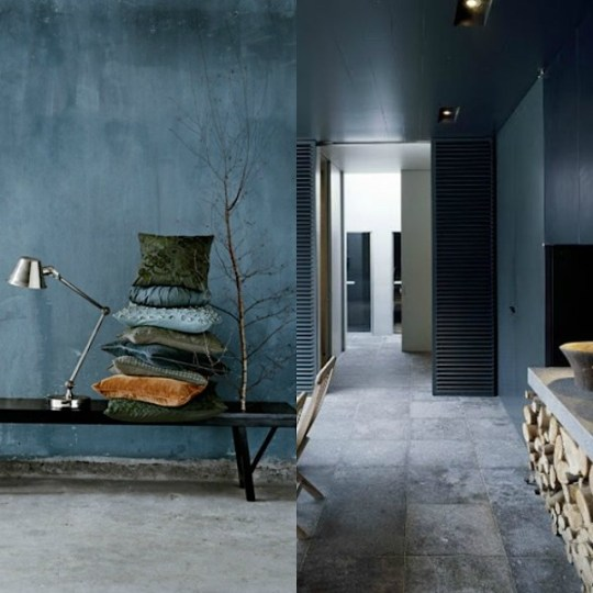 Eclectic trends color trend moody blue walls Trending interior wall colors