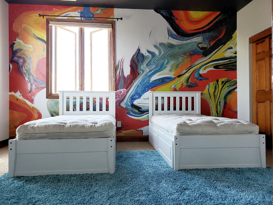 twin storage beds organic non toxic