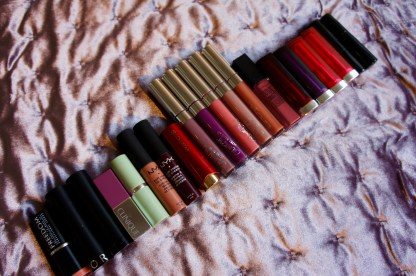 Al mijn lipsticks, so far anyway:)