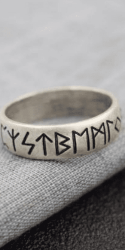 This gorgeous elder futhark rune ring is the perfect gift for Norse pagans! Shock your pagan friends with this minimalist ring. Jewelry for heathens and asatru pagans. Nordic paganism jewelry. Norse witches and occultists will love this ring as a gift! Learn the meaning of these magick runes easily. Let the runes guide your life. Yule gifts. Samhain gifts. Christmas gifts for pagans. Wicca jewelry. Spirituality rings. #jewelry #rings #asatru #heathen #pagan #witchcraft #pagan #wicca #witch