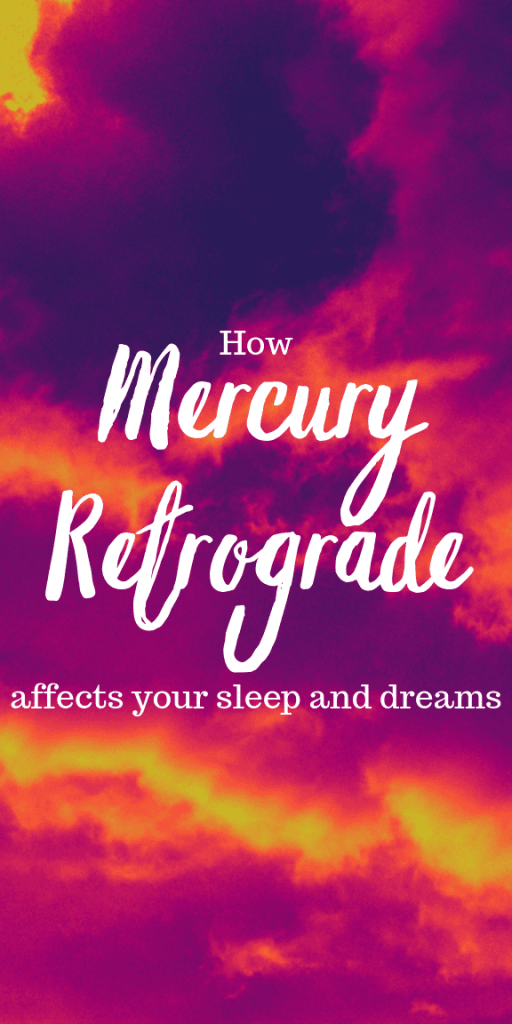 How Mercury Retrograde affects your sleep and dreams. Mercury rules over the nerves and brain, so while communication is breaking down your body is too. Mercury retrograde 2019 will be a rough couple of days where everything goes wrong and you'll start to have nightmares. Dream interpretation will be harder. The effects of mercury retrograde explained. How to survive mercury retrograde insomnia. Mercury retrograde astrology facts and tips. #astrology #witchcraft #mercuryretrograde #pagan