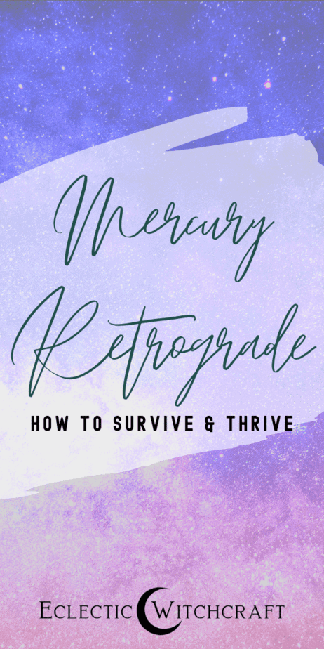 How to survive Mercury retrograde. Mercury retrograde is a tough time for everyone. Learn the pros and cons of Mercury retrograde and find out how to survive and THRIVE. Is Mercury retrograde? Find out the Mercury retrograde 2019 dates, Mercury retrograde 2020 dates, and Mercury retrograde 2021 dates. Mercury retrograde explained. Mercury retrograde adn travel. All about Mercury retrograde astronomy. Mercury retrograde bad luck. Mercury retrograde effects. #mercuryretrograde #astrology #witch