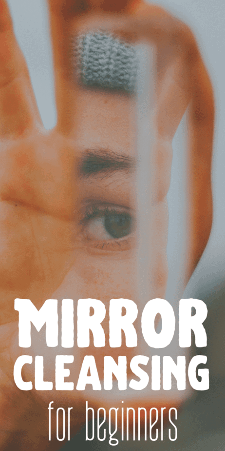 Mirror cleansing for beginners: How to clean your mirrors so that they don't harbor negative energy, malevolent spirits, misfired curses or spells, or hinder your witchcraft. What can you do if your mirror becomes spiritually dirty? How can you cleanse a mirror that is harboring negativity and malevolent spirits? #witchcraft #witch #curses #badvibes #mirror #cleansing #witchy #occult #pagan #wicca #paganism #wiccan #spells #magick #magic #ghosts #evil #blackmagic #spirituality #cleaning