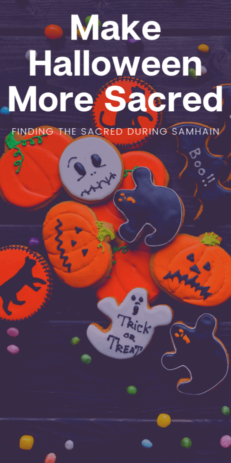 Make Halloween more sacred by injecting paganism into your festivities. Samhain is my favorite holiday, and these tips will make it your favorite holy day! Pagan religious beliefs that are easy to practice during Halloween. #halloween #samhain #pagan #witch #witchcraft #wicca #tips #tricks