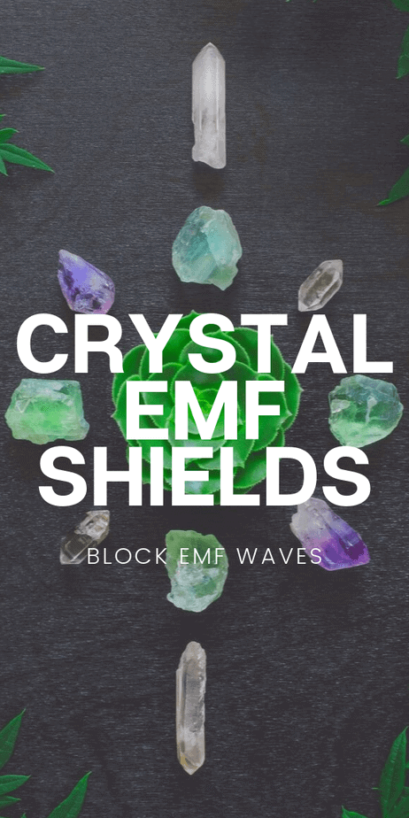 Crystal EMF shields: Beautiful healing crystals that block EMF waves. #althealth #alternativehealth #crystals #emf