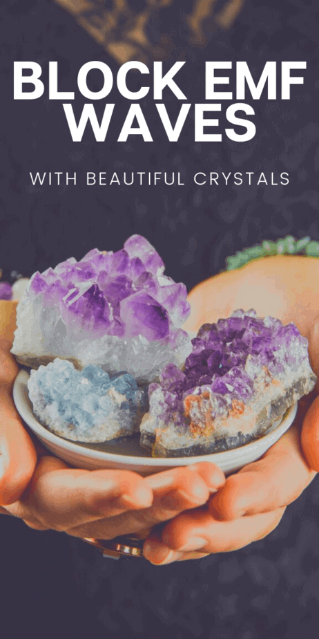 Crystal EMF shields: Beautiful healing crystals that block EMF waves. #althealth #alternativehealth #crystals #emf