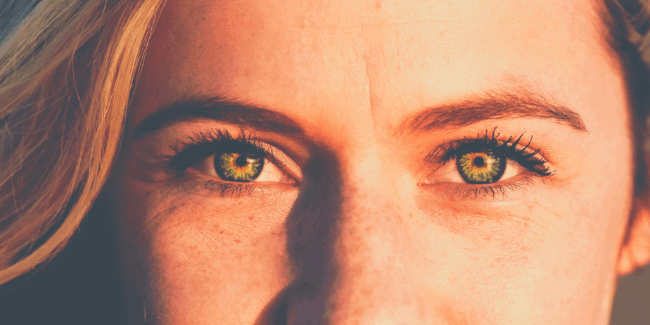 A woman with gorgeous eyes