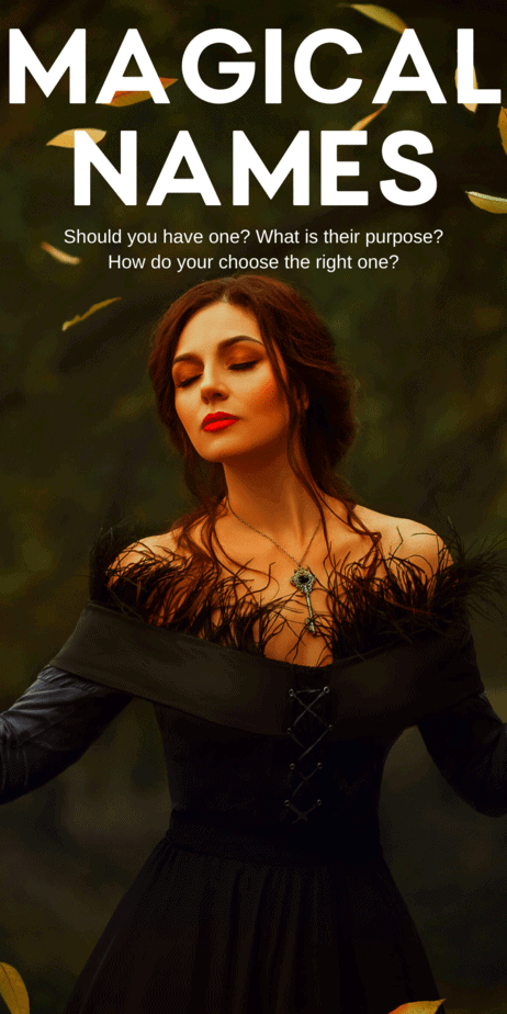 Witch names are so cool! Here's how to choose one. Learn more about paganism, witchcraft, and the occult on Eclectic Witchcraft. The best names for witches and Wiccans. Traditionally, magical names weren't meant to be revealed outside of the coven and were mostly used during rituals. Some occultists have chosen to have both a private and a public magical name. #witch #witchcraft #names #pagan #paganism #wicca #wiccan #occult
