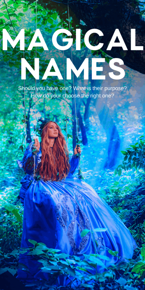 Do you have to choose a magical name? Learn more about paganism, witchcraft, and the occult on Eclectic Witchcraft. The best names for witches and Wiccans. It's important to remember that words and names have power. Knowing the true name of something or someone gives you magical power over them. For that reason, I see magical names as something important to protect ourselves from other witches and the entities that we work with. #witch #witchcraft #names #pagan #paganism #wicca #wiccan #occult
