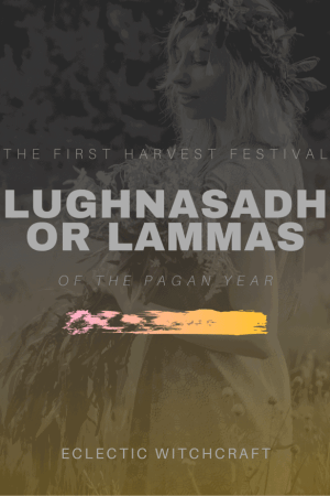 Lughnasadh, also known as Lammas, is the first pagan harvest festival of the Wheel of the Year. Celebrated by Wiccans, neopagans and witches, this is a time to thank the sun for its warmth and energy and bake bread. #pagan #wicca #witch #witchcraft