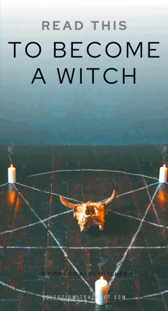 Learn how to become a witch. Read this blog post and you will learn everything you need to know about how to start with witchcraft, paganism, and wicca. #witchcraft #witch #pagan #wicca