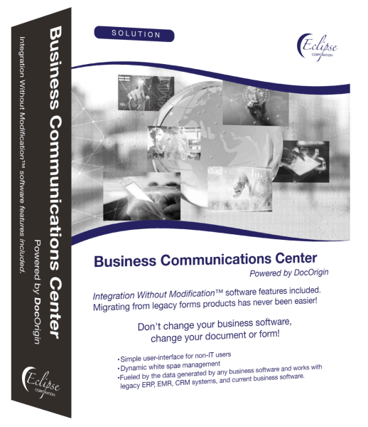 business communications center software box