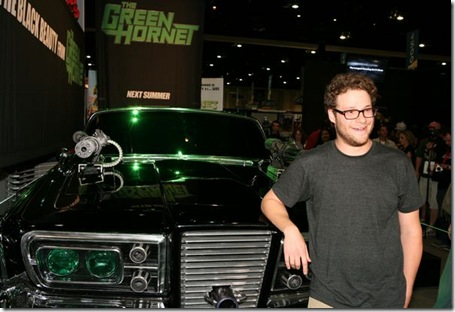 San Diego, California - July 22, 2009:  Executive Producer/Writer Seth Rogen at the Comic-Con unveiling of The Black Beauty, a 1965 Chrysler Imperial from Columbia Pictures' The Green Hornet.