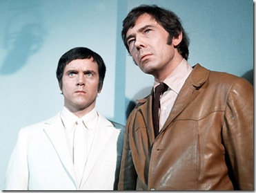 FROM GRANADA INTERNATIONAL FOR ITV  RANDALL AND HOPKIRK [DECEASED] on ITV4  Two crime-fighting detectives - but one is a ghost! Jeff Randall (Mike Pratt) is a hard-bitten private eye with a big problem - his dead partner, Marty Hopkirk [Kenneth Cope], a ghost who still comes to work. While his spectral form proves to be a potent force in the crime-breaking business, all is not well for his long-suffering partner, Jeff. Madly in love with Marty's widow [Annette Andre], but with no hope of a private moment, there seems little chance of a liaison. It's good to have a ghost on your side in the private eye business - especially when you're engaged in a number of complex and difficult cases in which an invisible ally can turn the tide in your favour.  Pictured:  Marty Hopkirk [KENNETH COPE] and Jeff Randall [MIKE PRATT]  For more picture information please contact Gareth Richman on 084488 13051 or gareth.richman@itv.com  COPYRIGHT GRANADA INTERNATIONAL