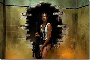 "Zoe Saldana as ""Cataleya"" in Columbia Pictures' COLOMBIANA."