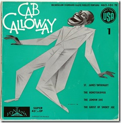1950 Cab Calloway 45tours caricature