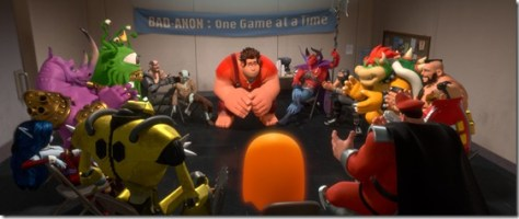 """""""WRECK-IT RALPH""""   (Pictured) RALPH (voice of John C. Reilly) amongst other video game bad guys.  ©2012 Disney. All Rights Reserved."""