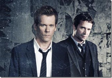 THE FOLLOWING: This spellbinding and intense drama follows an ex-FBI agent Ryan Hardy (Kevin Bacon, L) who is called out of retirement to track down a devious and diabolical serial killer (James Purefoy, R), the mastermind behind a nationwide string of murders in the new drama THE FOLLOWING premiering midseason on FOX. ©2012 Fox Broadcasting Co. CR: Patrick Ecclesine/FOX