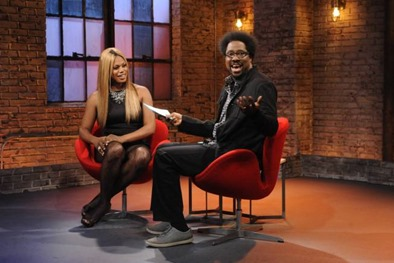 TOTALLY BIASED WITH W. KAMAU BELL: Show 2006 (Airs Wednesday, September 11, 11:00 pm e/p) Pictured: (L-R) Laverne Cox, W. Kamau Bell. CR: Jeffrey Neira/FXX Network