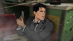 "ARCHER: Episode 1, Season 5 ""White Elephant"" (airing Monday, January 13, 10:00 pm e/p). Someone dies.  Someone who has been with the ISIS crew from the beginning.  And then things get crazy. Written by Adam Reed. Pictured: Sterling Archer (voice of H. Jon Benjamin). FX Network"