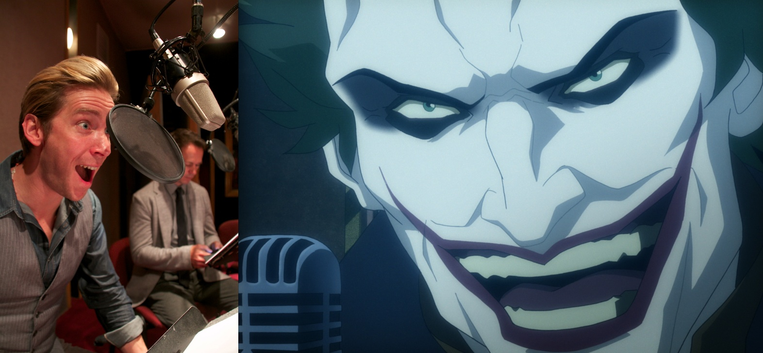 Image result for . Joker is played by Troy Baker in this film.