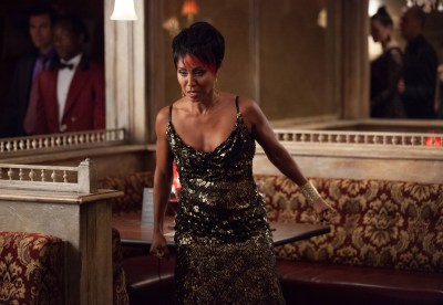 "GOTHAM: Fish Mooney (Jada Pinkett Smith) orders everyone to leave her club in the ""Selina Kyle"" episode of GOTHAM airing Monday, Sept. 29 (8:00-9:00 PM ET/PT) on FOX. ©2014 Fox Broadcasting Co. Cr: Jessica Miglio/FOX"