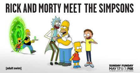 Rick & Morty & The Simpsons