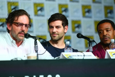 "COMIC-CON INTERNATIONAL: SAN DIEGO 2015 -- ""Grimm"" Panel & Red Carpet -- Pictured: (l-r) Silas Weir Mitchell, David Giuntoli, Russell Hornsby, Saturday, July 11, 2015, from the San Diego Convention Center, San Diego, Calif. -- (Photo by: Mark Davis/NBC)"