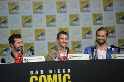 "COMIC-CON INTERNATIONAL: SAN DIEGO 2015 -- ""Hannibal"" Panel -- Pictured: (l-r) Richard Armitage, Hugh Dancy, Bryan Fuller, Executive Producer, Writer, Saturday, July 11, 2015, from the San Diego Convention Center, San Diego, Calif. -- (Photo by: Jason Kempin/NBC)"