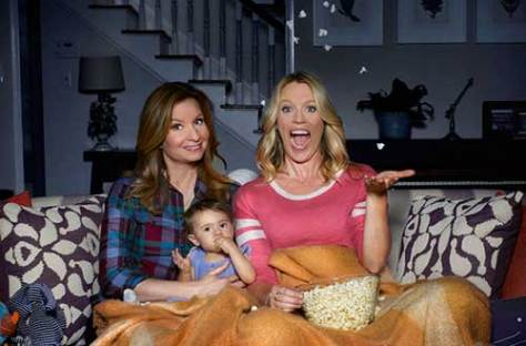 Photo by: Robyn Von Swank/USA Network (from L to R) Lennon Parham as Maggie, Jessica St. Clair as Emma and with baby Charlotte.